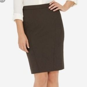 (Tall) NWT The Limited Collection Brown Suit Skirt